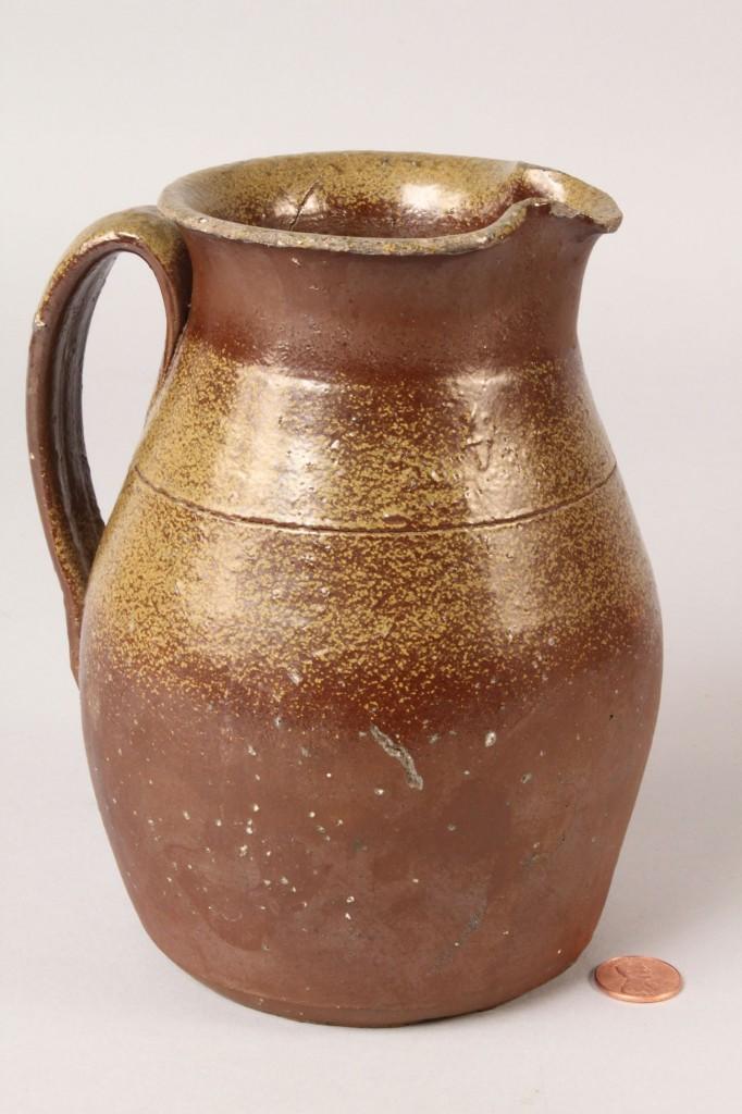 Lot 236: Middle TN Stoneware cream pitcher & jar