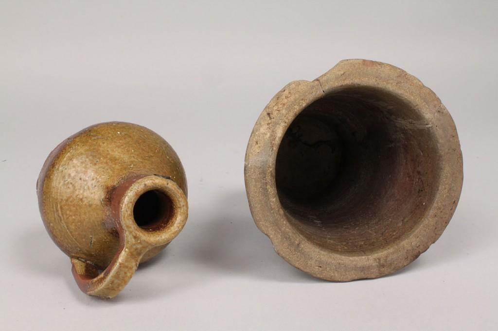 Lot 237: 2 TN Stoneware Pottery Items, Miniature