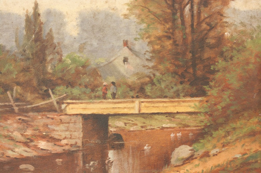 Lot 23: Thomas Campbell, Tennessee landscape with bridge