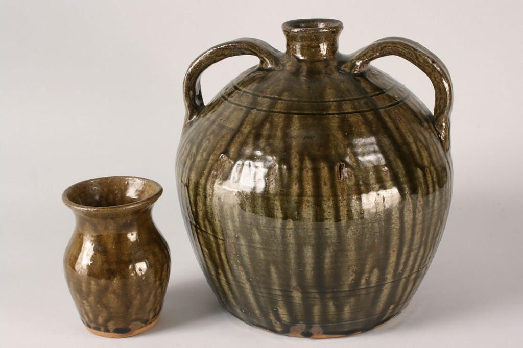 Lot 241: Lot of 2 Cleater Meaders Pottery Items