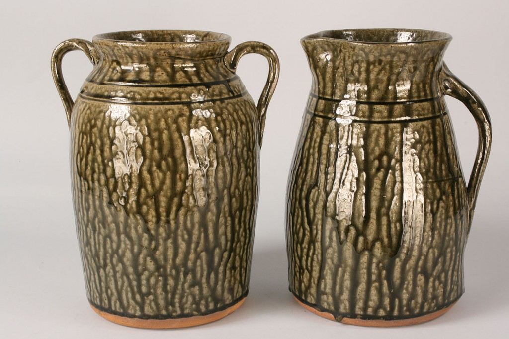 Lot 244: Lot of 2 Large Cleater Meaders Pieces, pitcher & j