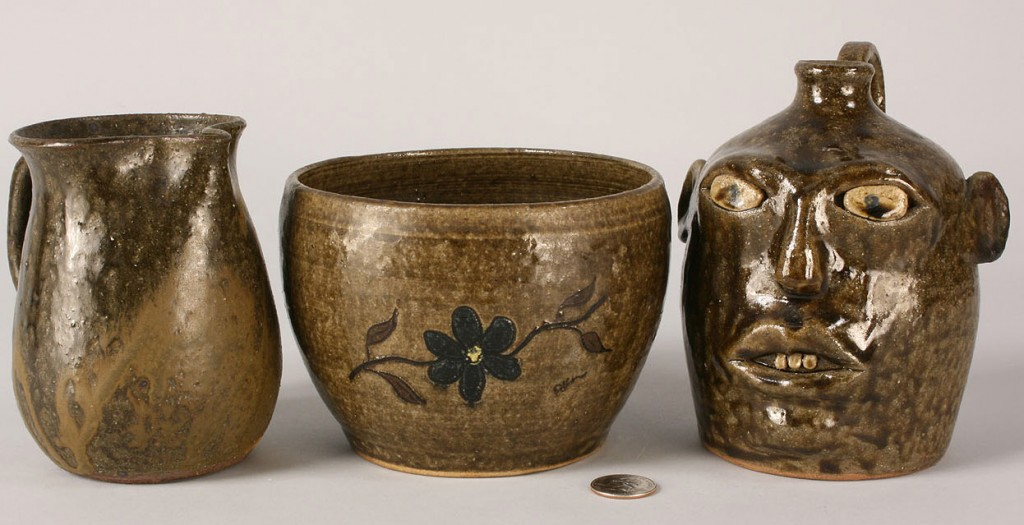 Lot 245: Lot of 3 Meaders Family Pottery Items