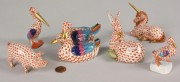 254: Herend Porcelain Animal and Bird Figures, 6 items