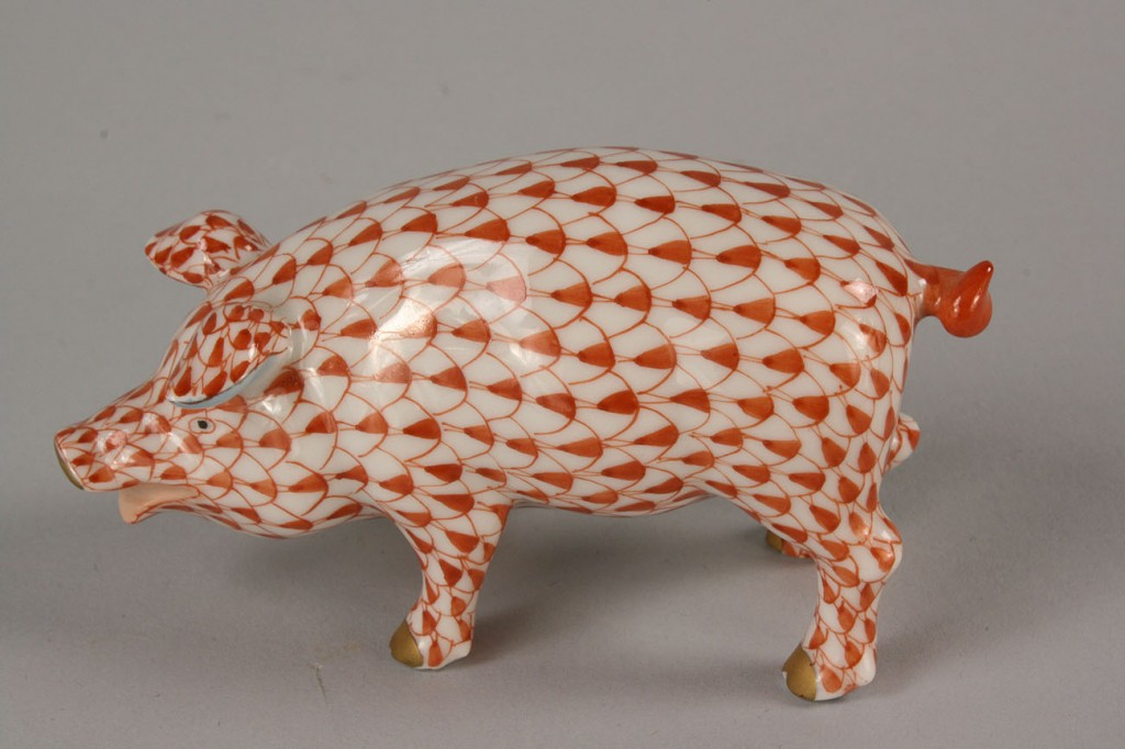 Lot 254: Herend Porcelain Animal and Bird Figures, 6 items