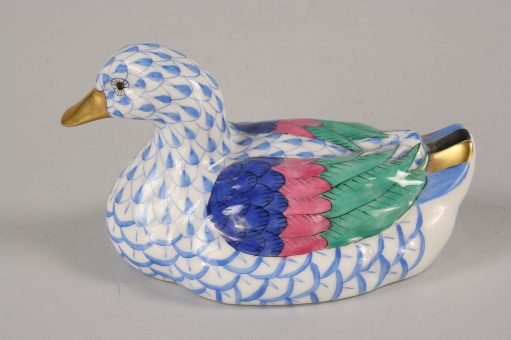 Lot 255: Herend Porcelain Animal and Bird Figures, 6 items