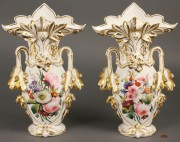259: Pair of large Old Paris Porcelain Vases