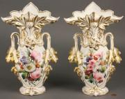 259: Pair of large Old Paris Porcelain Vases