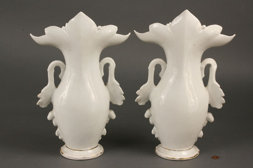 Lot 259: Pair of large Old Paris Porcelain Vases