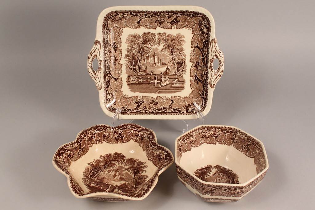 Lot 263: Mason's Vista Serving Pieces in Brown 12 pcs