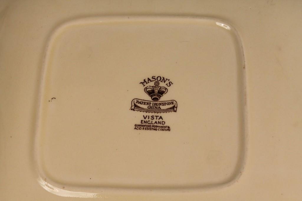 Lot 263: Mason's Vista Serving Pieces in Brown 12 pcs
