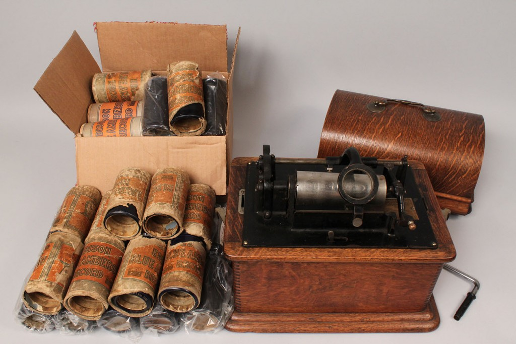 Lot 266: Edison Standard Phonograph with 43 Amberol records