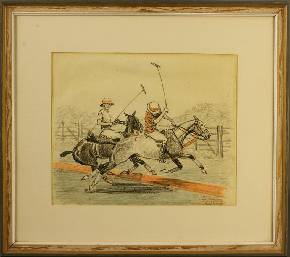 Lot 269: Paul Desmond Brown equestrian pastel