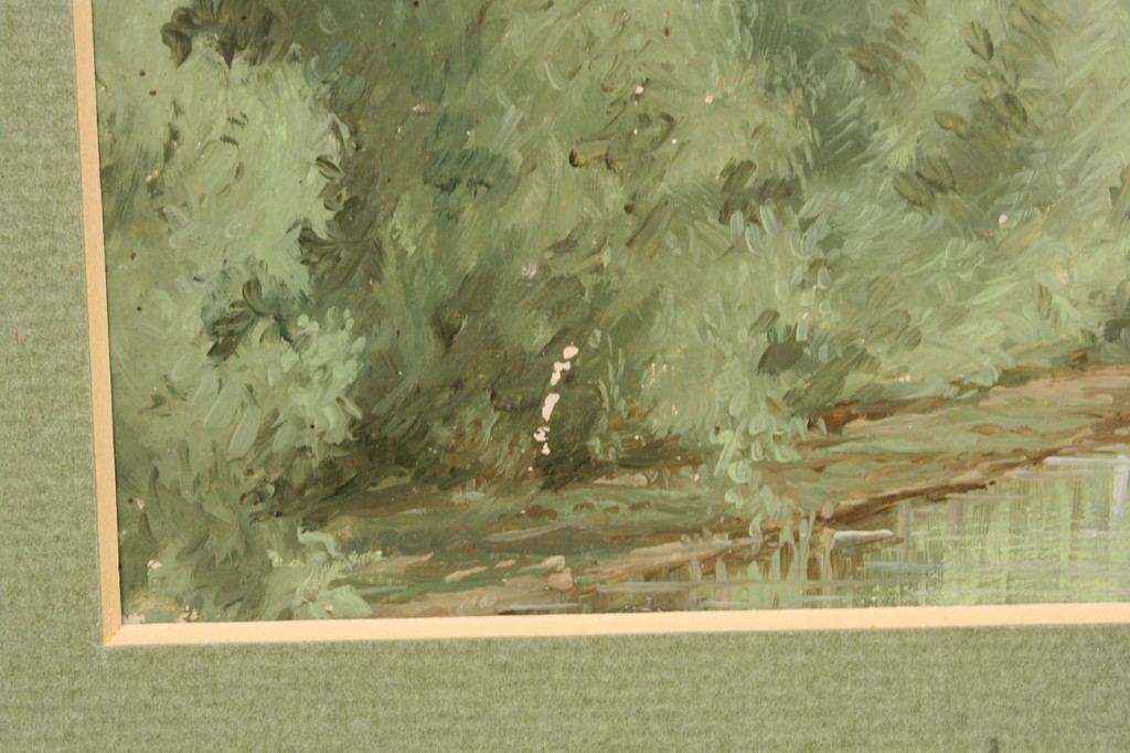 Lot 26: Two Thomas Campbell landscape paintings