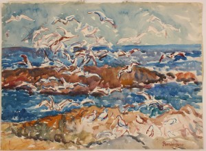 Lot 272: Maurice Prendergast watercolor seascape