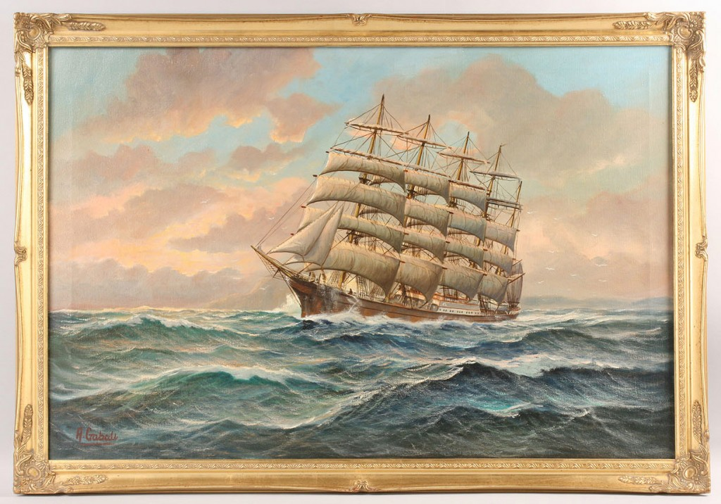 Lot 276: Alfred Gabali, maritime portrait of The Potosi