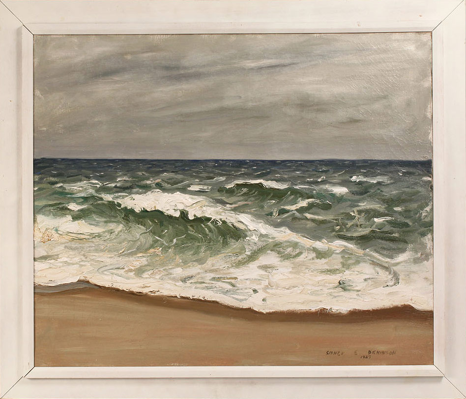 Lot 278: Sidney Dickinson Oil on Canvas, Coastal View