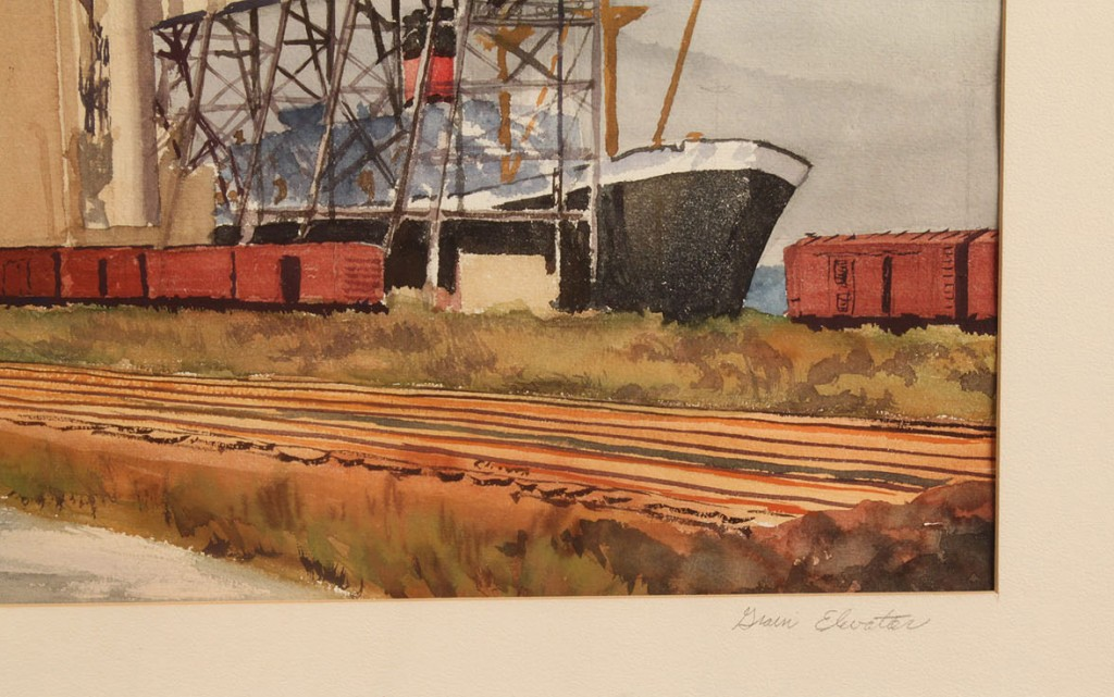 Lot 27: Kenneth Harris, Norfolk, VA Watercolor of Grain Ele