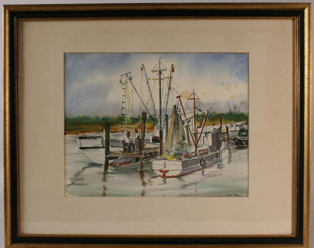 Lot 280: Lot of 2 Coastal Watercolors, Anne Ball