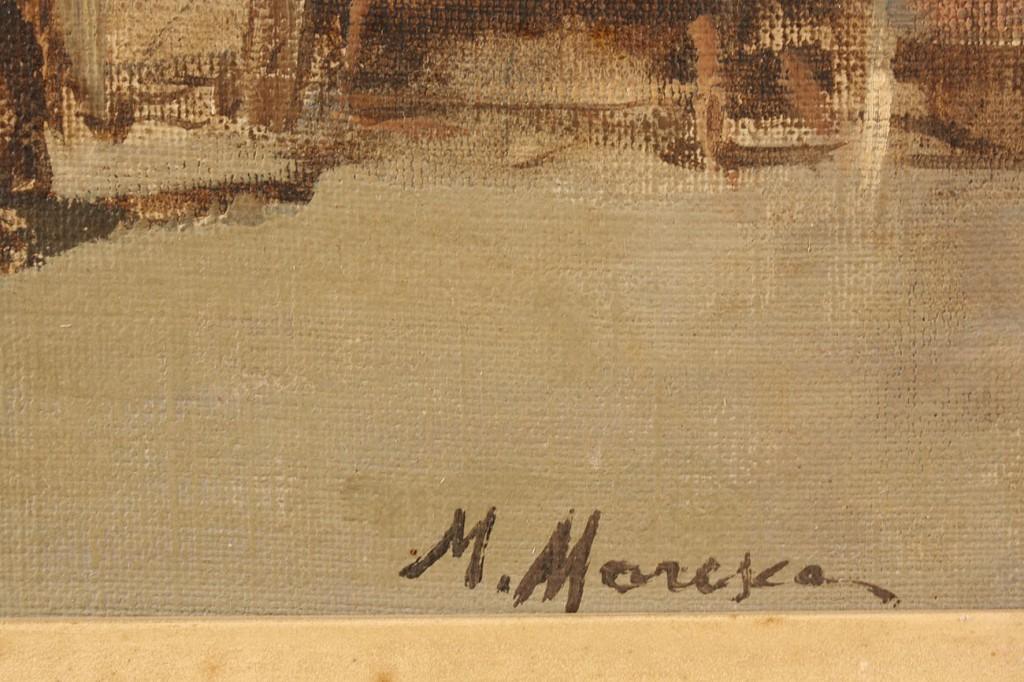 Lot 281: Mario Maresca Oil on Board, European market