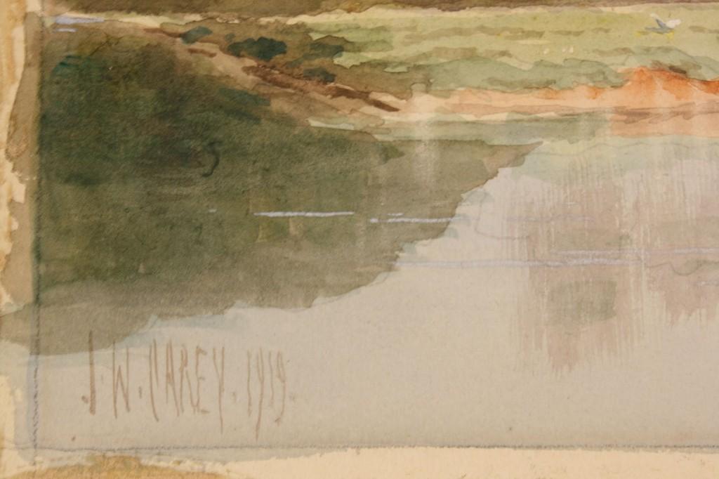 "Lot 283: J W Carey Watercolor, ""Lagan 2nd Locks"""