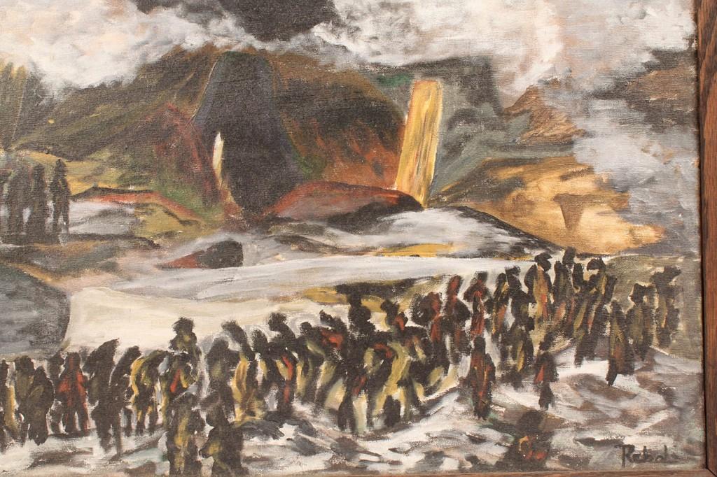Lot 284: Impressionistic Oil on Canvas, Rebolo