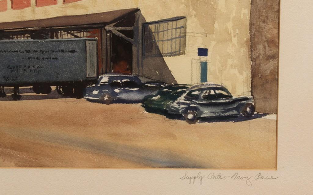 Lot 28: Norfolk, VA Watercolor, Naval Base, Kenneth Harris