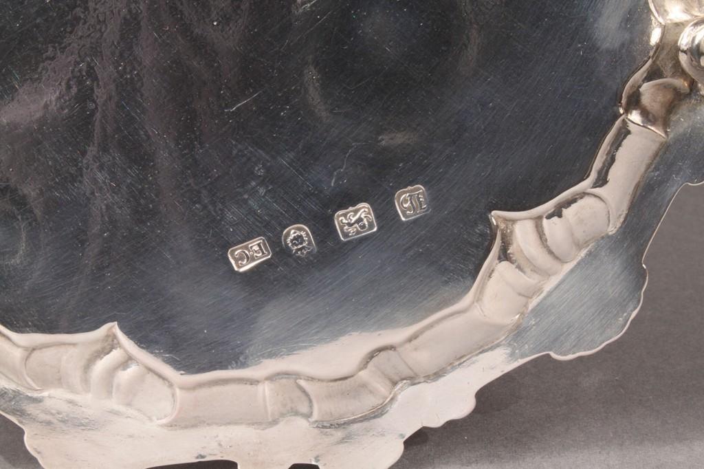 Lot 295: George III silver salver, Ebenezer Coker