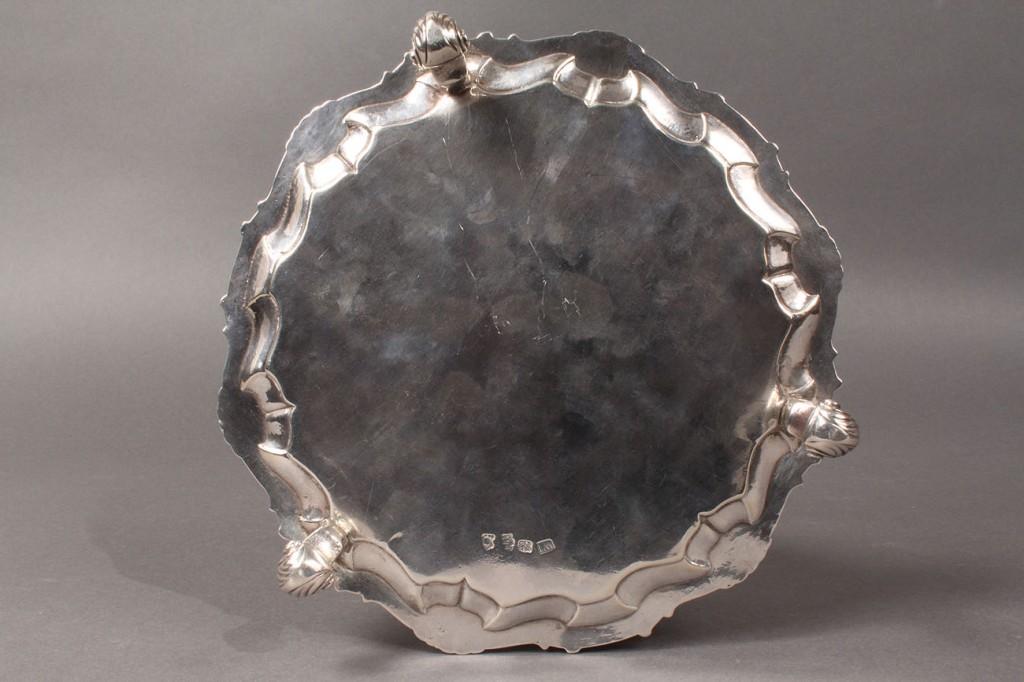 Lot 297: George II Silver Salver, William Justus