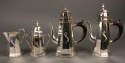 301: Baroque Style Silver Tea Service, 4 pcs.