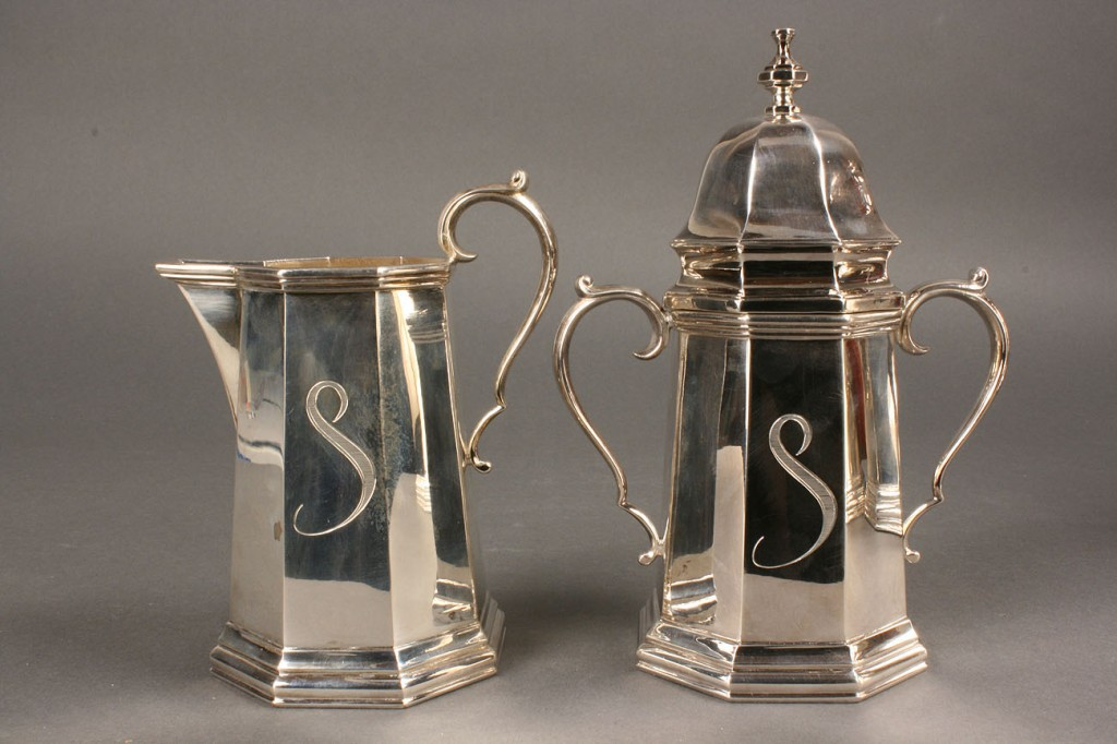 Lot 301: Baroque Style Silver Tea Service, 4 pcs.