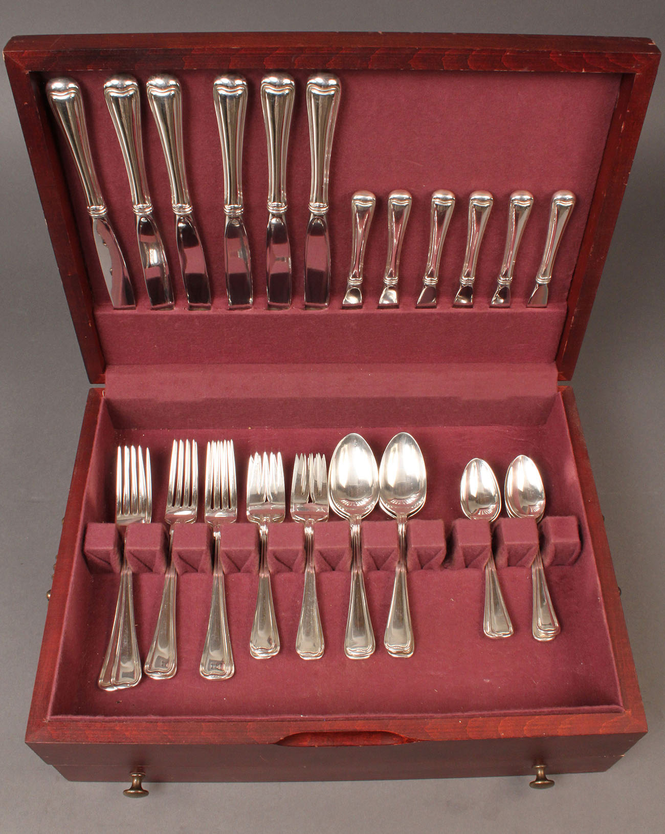 306: Gorham Old French pattern sterling flatware, 36 pc