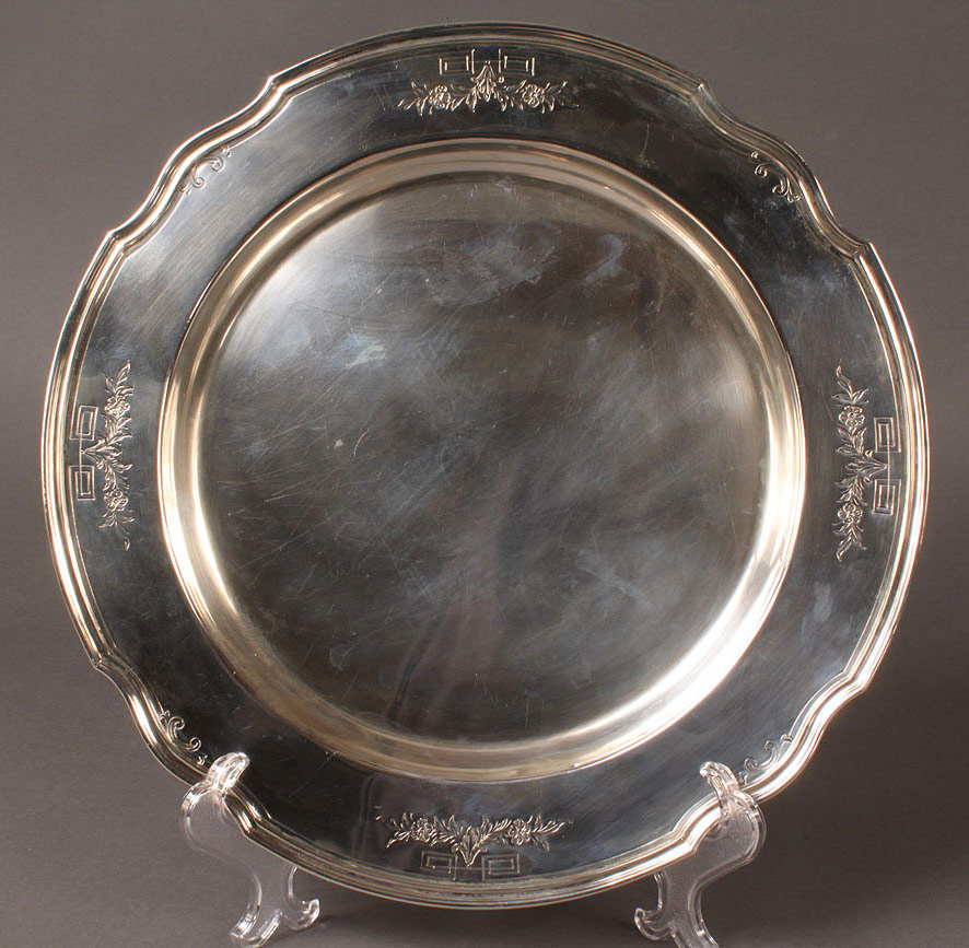 307: Sterling Silver Round Tray or Charger