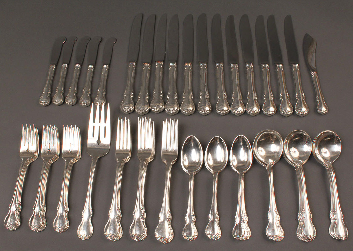 Lot 308: Towle Sterling Flatware, French Provincial pattern
