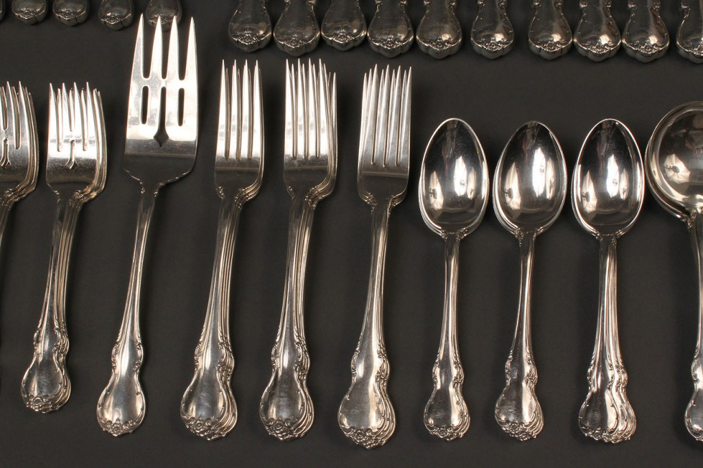 Lot 308 Towle Sterling Flatware French Provincial Pattern