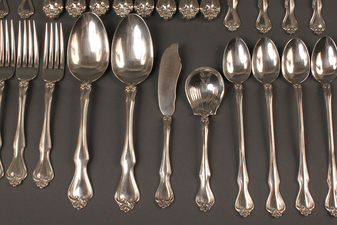Lot 311 Westmoreland Sterling Flatware 44 Pcs