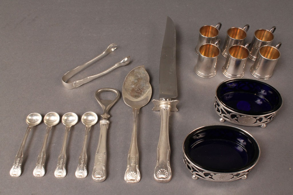 Lot 312: Assorted Sterling Silver Tableware, 16 pcs
