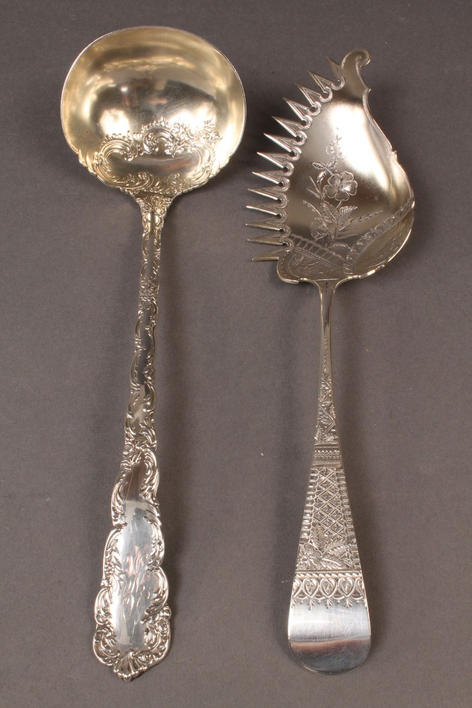 Lot 314: Sterling Macaroni Server and Punch Ladle