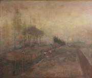 31: Lloyd Branson Oil on board landscape