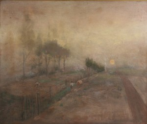Lot 31: Lloyd Branson Oil on board landscape