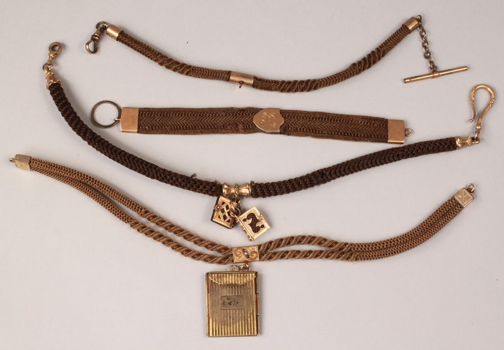 Lot 320: Victorian Hair Work watch fobs