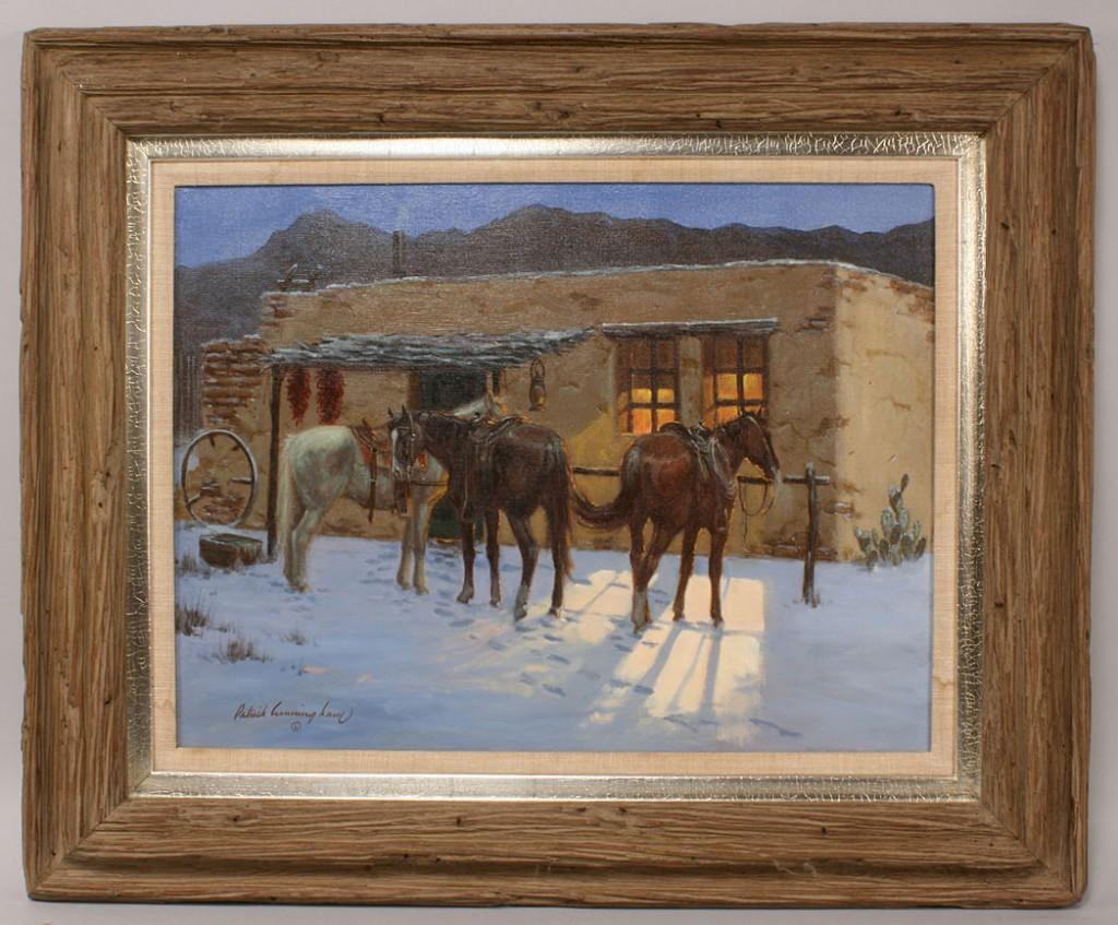 Lot 326: Patrick Cunningham, oil on canvas snow scene