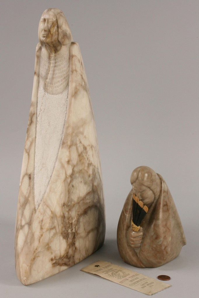 Lot 329: Cliff Fragua, two Polished Stone Sculptures