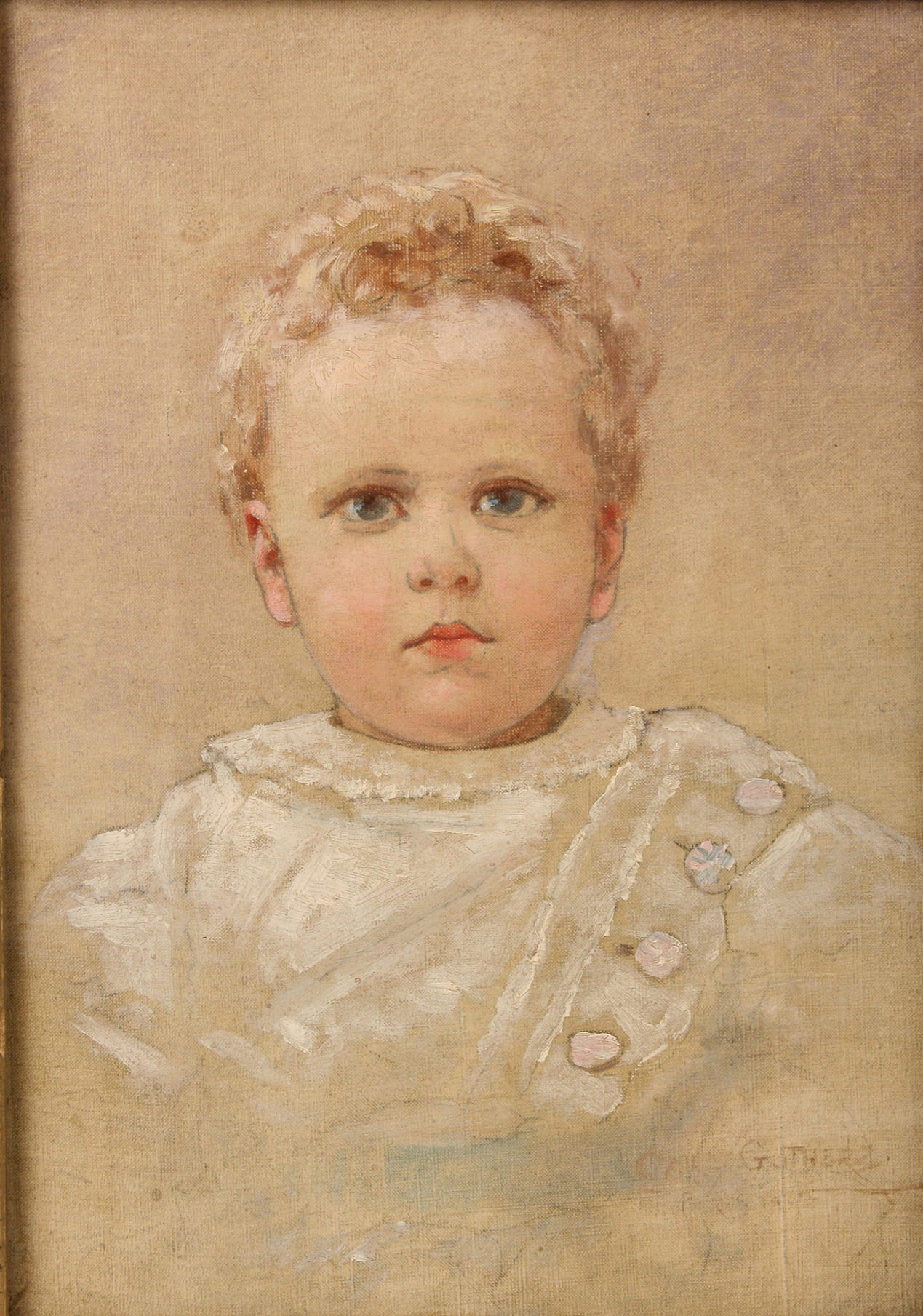 32: Carl Gutherz, Portrait of a Baby