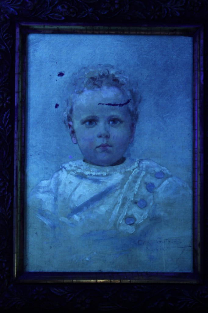 Lot 32: Carl Gutherz, Portrait of a Baby