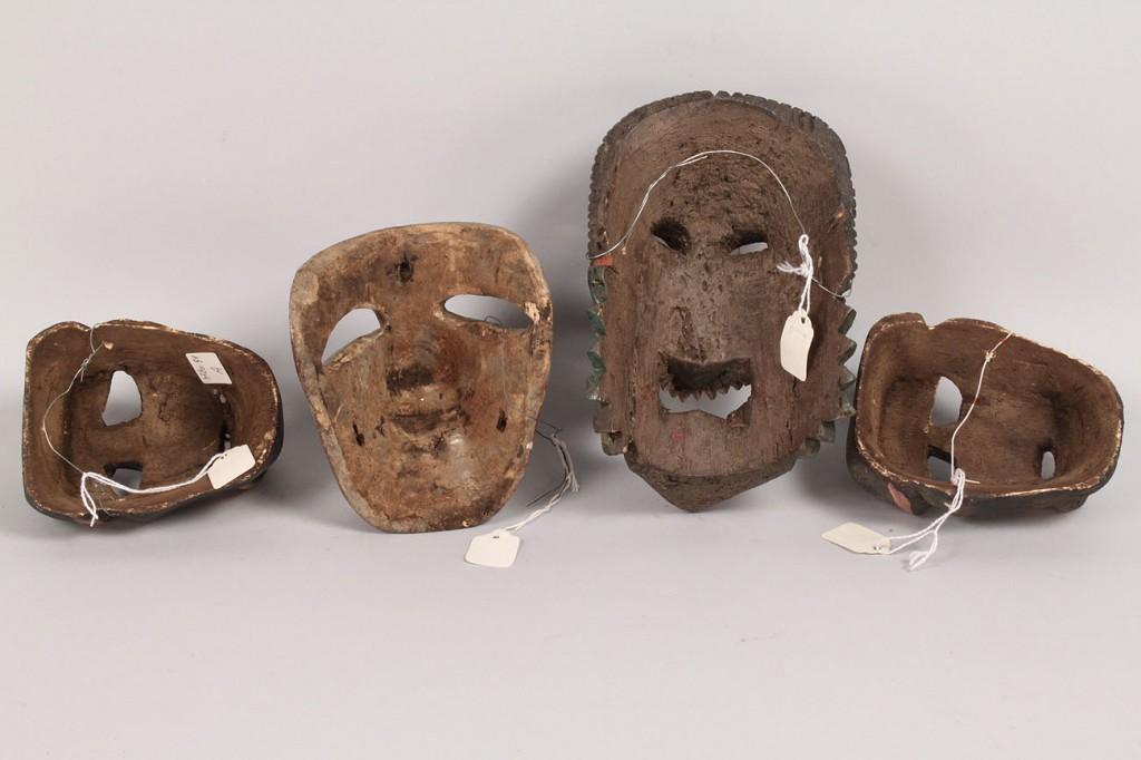 Lot 333: Mexican Folk Art Miniature Masks, lot of 4
