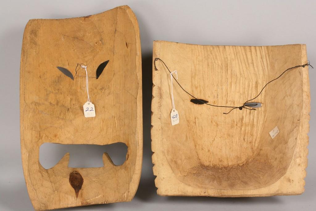 Lot 334: Pair of Mexican Folk Art masks