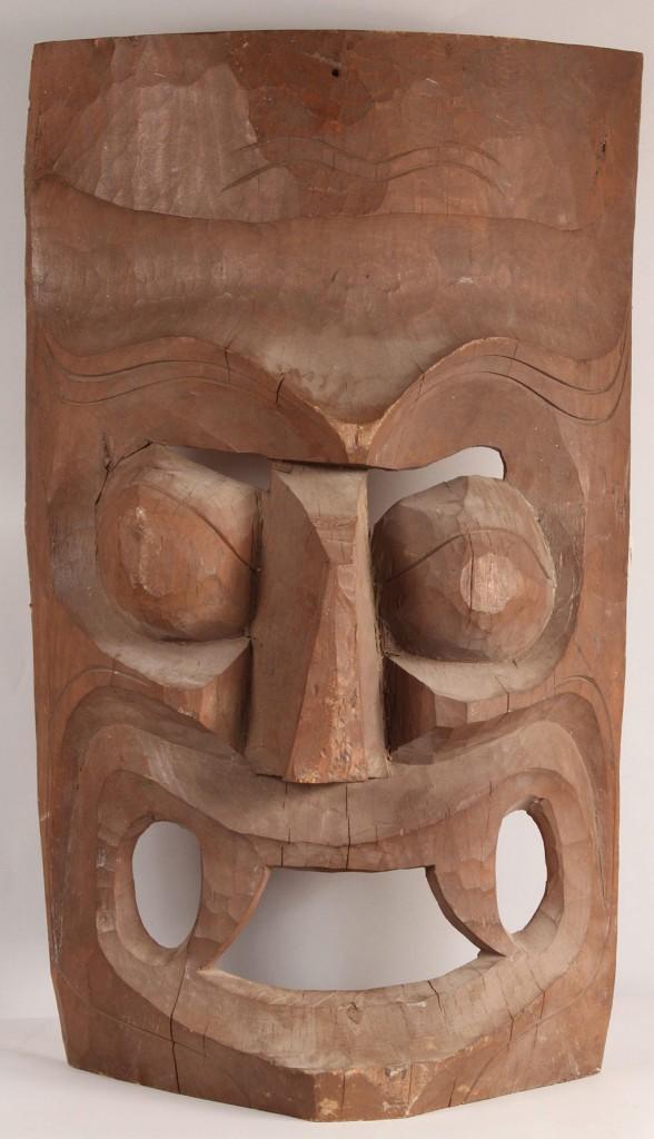 Lot 336: Mexican Folk Art Mask, Large primitive style
