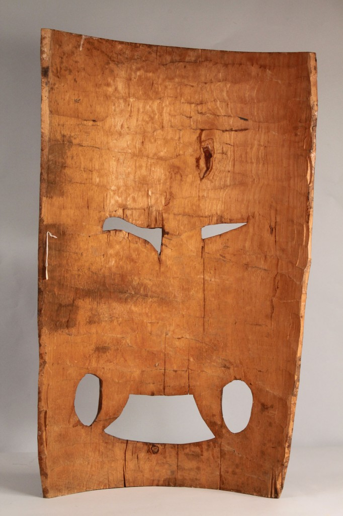 Lot 336: Mexican Folk Art Mask, Large primitive style
