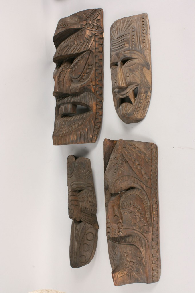 Lot 337: 4 Mexican Folk Art masks, unpainted