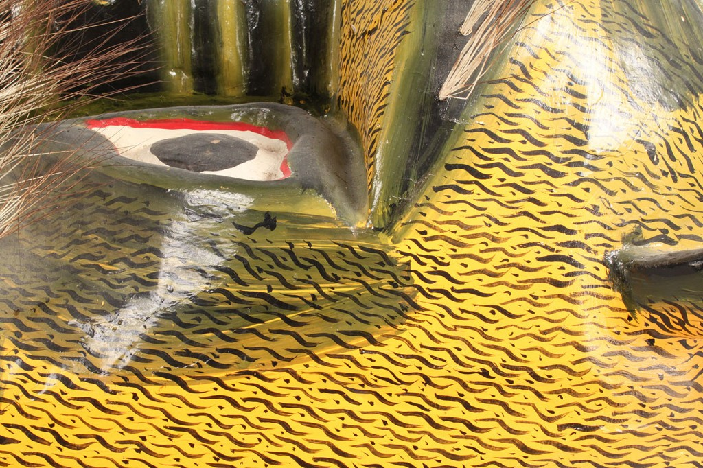 Lot 341: Mexican Folk Art Tiger Mask